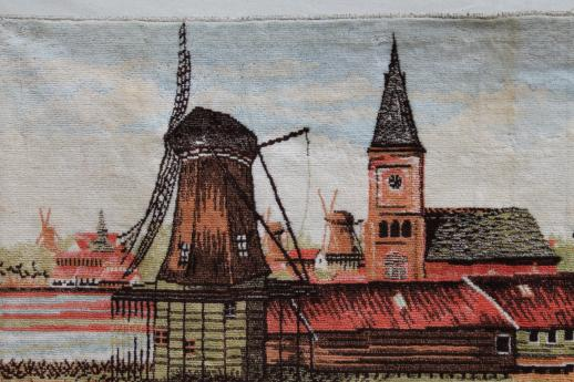 Vintage Wall Hanging Tapestry Tulip Fields Of Holland
