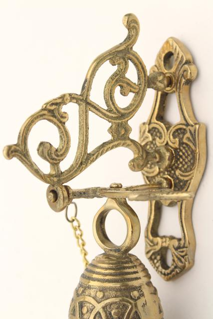 Vintage Wall Mount Doorbell Or Call Bell Pull Chain Solid