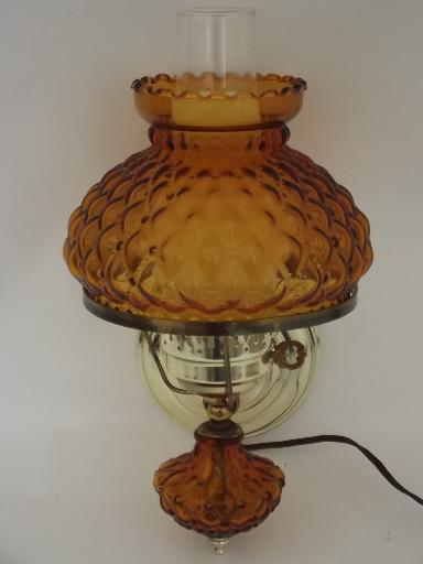 Amber Glass Lamp