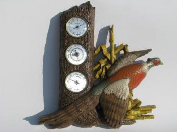 vintage weather station w/ barometer, hygrometer etc. Burwood game birds