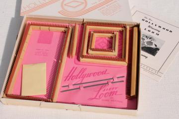 vintage weave it square jiffy loom hand weaving adjustable frame kit w/ instructions