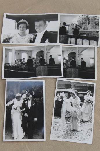 Vintage Wedding Party Photos Real Photo Postcards Early 1940s Bride Groom