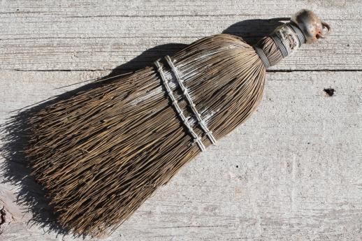 Vintage Whisk Broom Collection Primitive Old Natural