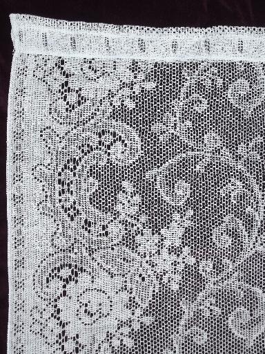 Vintage White Cotton Lace Curtains