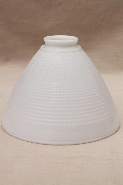 Vintage white glass diffuser shade lamp shade reflector waffle milk vintage white glass diffuser shade lamp shade reflector waffle milk glass audiocablefo