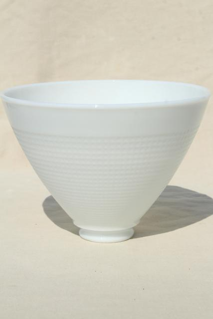 Vintage White Glass Diffuser Shade Replacement Lamp Shade