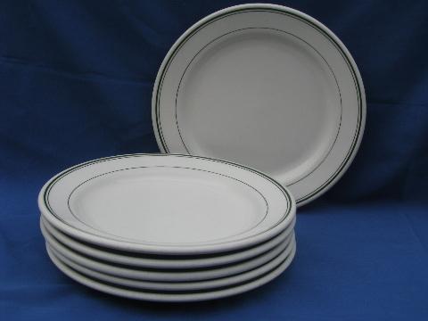 Vintage White Ironstone Homer Laughlin Best China Plates