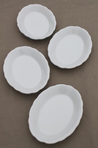 vintage white ironstone oval plates Buffalo china restaurantware platter plates set & vintage white ironstone oval plates Buffalo china restaurantware ...