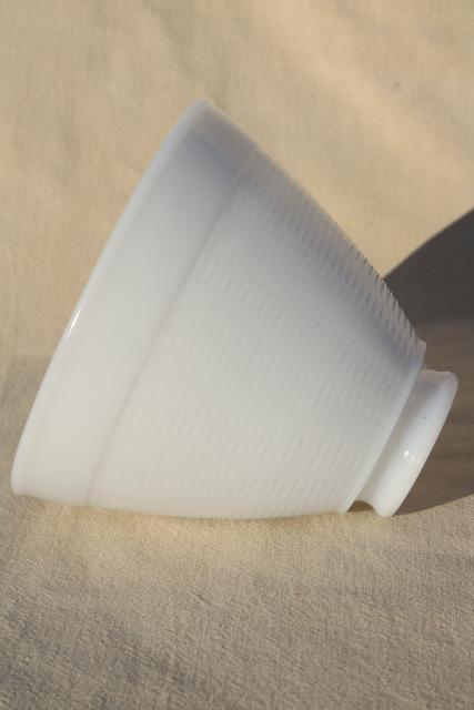 vintage white milk glass diffuser shade, replacement lamp shade reflector