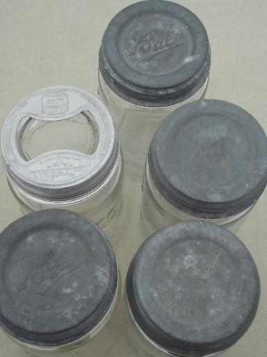 Vintage Wide Mouth Canning Jars Old Mason Jar Canisters W