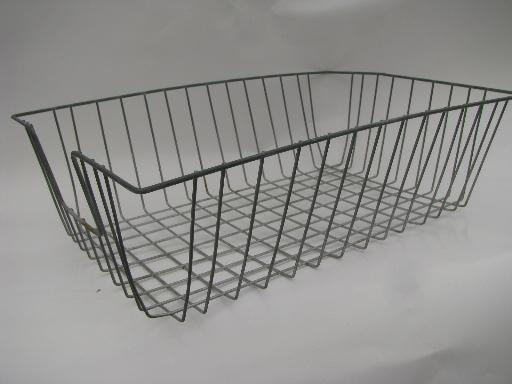 vintage wire basket for large size art paper, desk tray or work table storage