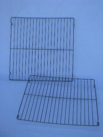 vintage wire cooling racks for baking, old wirework kitchenware