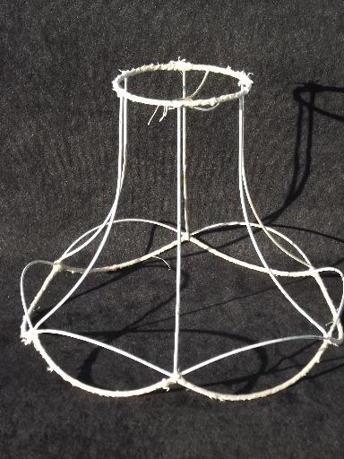 Vintage wire lamp shade frame for bell shape old victorian lampshade greentooth Images