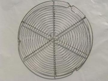 vintage wirework trivet, old wire stand for kitchen tea kettle