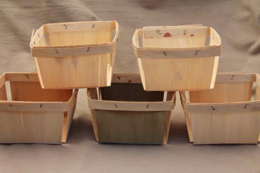 Vintage Wood Berry Baskets Quart Berry Boxes For Farmer 39 S Market Garden Produce