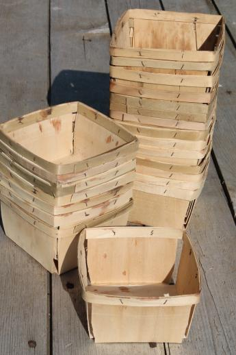 Vintage Wood Berry Baskets Quart Berry Boxes For Farmer S
