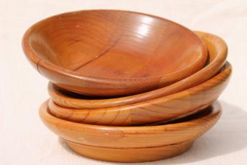 vintage wood bowls Sitka 'airplane' spruce Posey Mfg. Hoquiam Washington