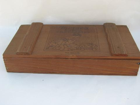 Vintage Wood Chocolate Box
