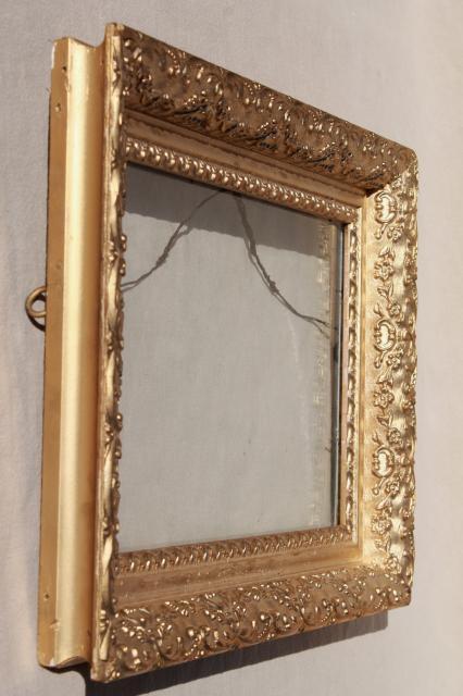 Vintage Wood Frames Deep Picture Frames Ornate Gesso
