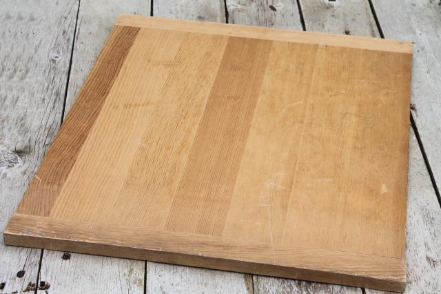 vintage wood kitchen cutting board, big old wooden dough board, bread board