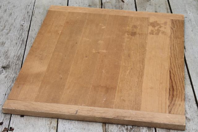 Vintage Wood Kitchen Cutting Board Big Old Wooden Dough