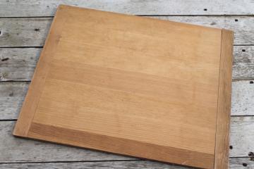 vintage wood kitchen cutting board, big old wooden dough board, bread board