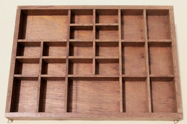 vintage wood shadowbox display case shelves for thimbles, miniatures, collectibles
