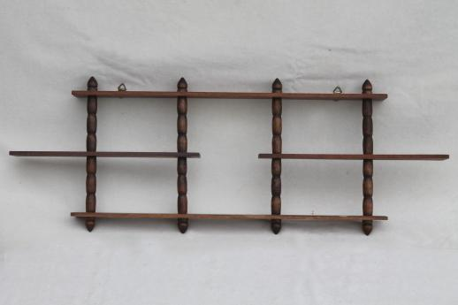 vintage wooden display shelves for miniatures & tiny collectibles, mid ...