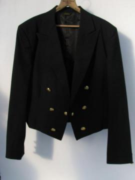 vintage wool dress uniform mess jacket to wear w/ kilt, Ulster or Scotland