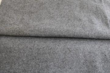 vintage wool fabric for sewing crafts or rug making, ash grey heather