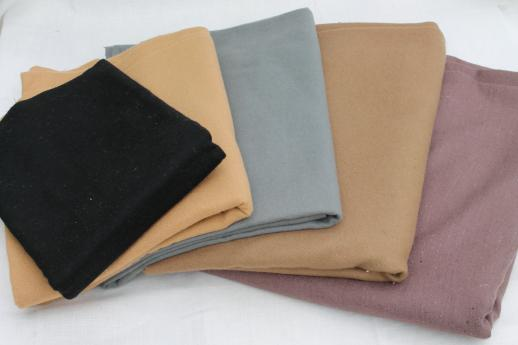 vintage wool fabric lot for penny rugs hooked rug making primitive quilting u0026 felt crafts