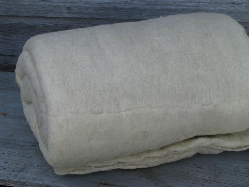 vintage wool quilt batt, quilter's quilting fill batting 82 x 80 : wool quilt batting - Adamdwight.com