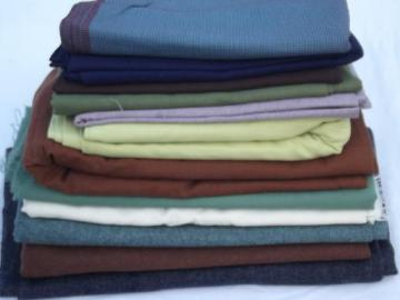 vintage wool suiting fabric lot, 11 1/2 lbs wools and wool blends