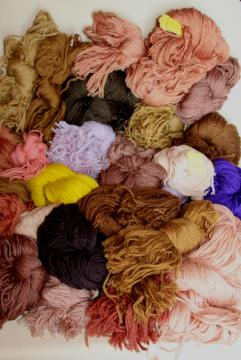 vintage wool yarn, tapestry needlepoint or crewel embroidery thread hanks