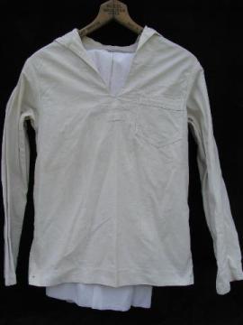 vintage work whites sailor's uniform, jumper & pants