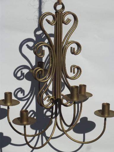 Wrought Iron Wall Sconces For Candles : vintage wrought iron wall sconces, hanging chandelier candle holders