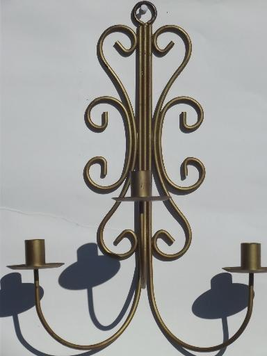 Wrought Iron Wall Decor Candle Holders : Vintage wrought iron wall sconces hanging chandelier
