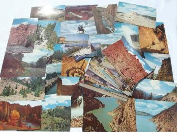 western road trip travel photo tourist souvenir postcards, vintage 50s, 60s, 70s
