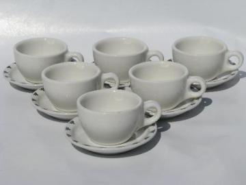 western steers or cows border vintage ironstone china coffee cups and saucers