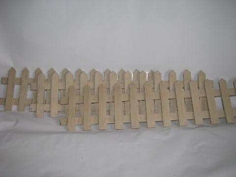 white wood picket fence for vintage Christmas village, old-fashioned