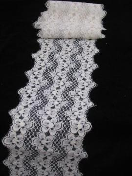 wide floral lace insertion, pretty table runner dresser scarf fabric
