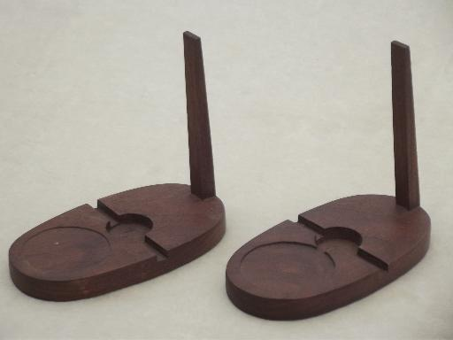 Wood Display Stands For Vintage China Cup Saucer Sets Plate
